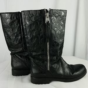 Coach Valentine  mid-calf zip up boot Size 9